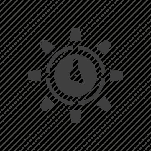 build, construction, gear, maintenance, tool icon
