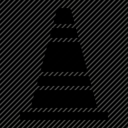 architecture, cone, construction, industry, labor, traffic cone, under construction icon