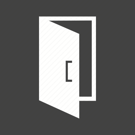 Entrance, door, room, house, doorway, exit, interior icon