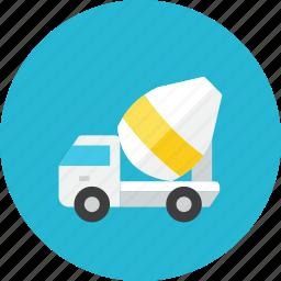 mixer, truck icon