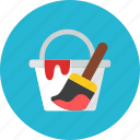 bucket, paint icon