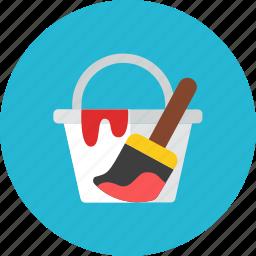 bucket, paint icon