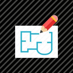 2, blueprint, construction icon