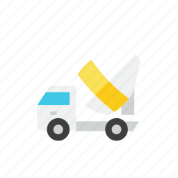 mixer, truck icon