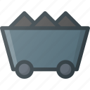 cart, construction, industry, mining icon