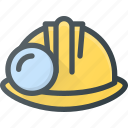 construction, helmet, industry, mining, protection icon