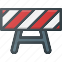 construction, industry, road, sign icon
