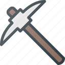 construction, industry, mining, pick, pickaxe, tool, tools icon