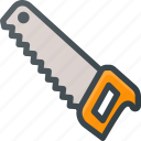 construction, hand, industry, saw, tool, tools icon