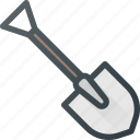 construction, industry, shovel, tool, tools icon