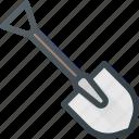 construction, industry, shovel, tool, tools
