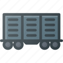car, cart, construction, industry, train icon