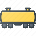 car, cart, cistern, construction, industry, train icon