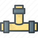 construction, industry, pipe, pipeline, water icon