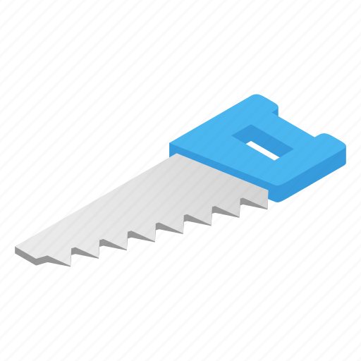 Construction, equipment, hacksaw, isometric, saw, tool, work icon - Download on Iconfinder
