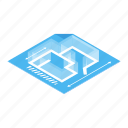 architectural, background, floor, isometric, meter, plan, project icon