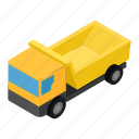 cargo, isometric, semi, shipping, trailer, truck, van icon