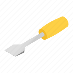 art, clip, isometric, screwdriver, thought, tool, turn-screw icon