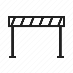 block, caution, closed, construction, road barrier, sign, warning sign icon