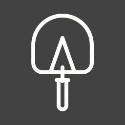 building, cement work, construction, equipment, mixer, tool, trowel icon