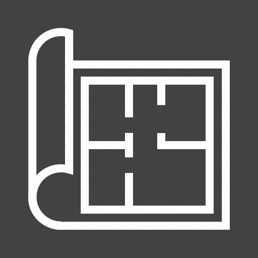 architect, architecture, building, construction, design, house, paper icon