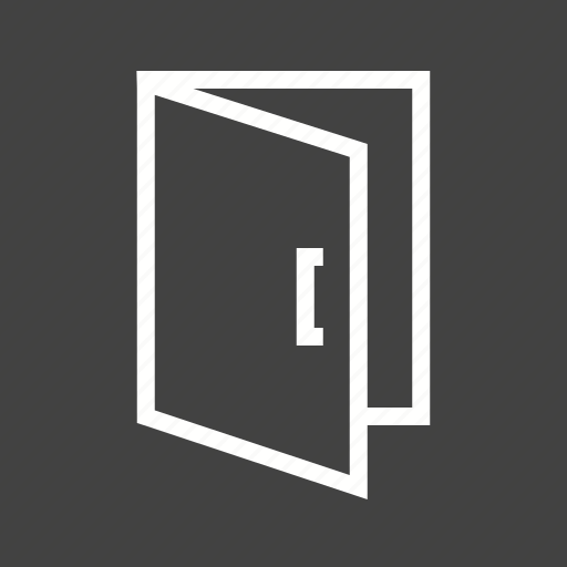 door, doorway, entrance, exit, house, interior, room icon