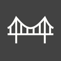 architecture, bridge, construction, design, overhead, road, structure icon