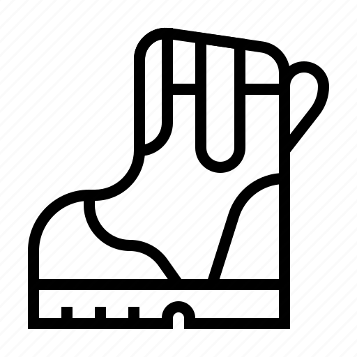 architecture, boots, construction, industry, labor, safety, shoes icon