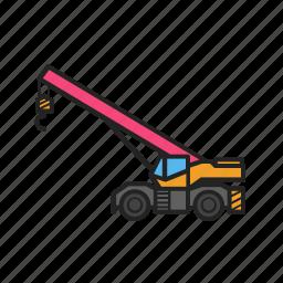 building, construction, construction machinery, crane, equipment icon