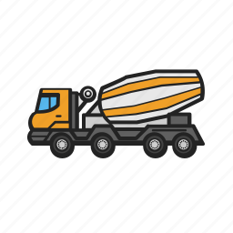 building, concrete, construction, construction machinery, mixer, work icon