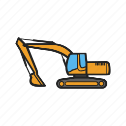 building, construction, construction machinery, excavator, work icon