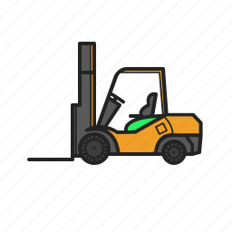 building, construction, construction machinery, loader, work icon