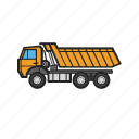 building, construction, construction machinery, tipper, work icon