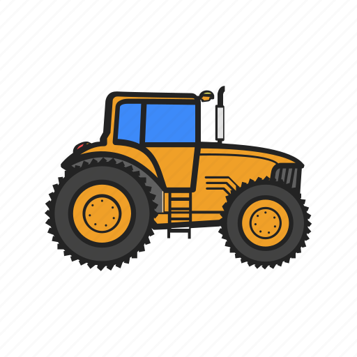 building, construction, construction machinery, tractor, work icon