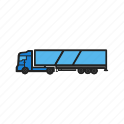 building, construction machinery, delivery, transport, truck, work icon