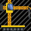 construction, machinery, vehicle, crane, lifting, building