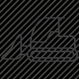 bulldozer, excavator, machine icon