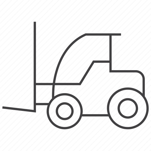 forklift, logistics, vehicle icon