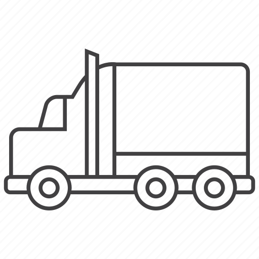 cargo, heavy, transportation, truck icon