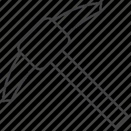 mattock, mining, pickaxe icon