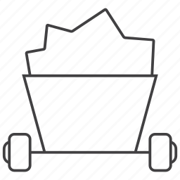 cart, mine, wagon icon