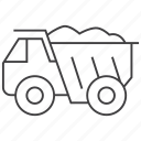 dump, monster, truck icon