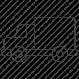 truck, van, vehicle icon