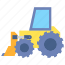 bulldozer, construction, excavator