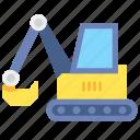bulldozer, construction, excavator, work