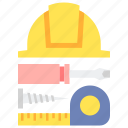 foreman, gear, hat, tools icon