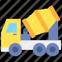 mixer, truck, vehicle icon