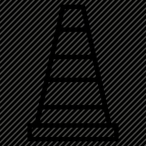 cone, construction, sign, traffic, transportation icon