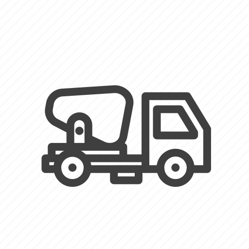 build, construction, mixer truck, tools, work icon