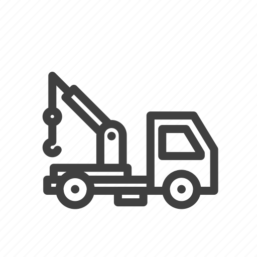 build, construction, tools, truck, work icon